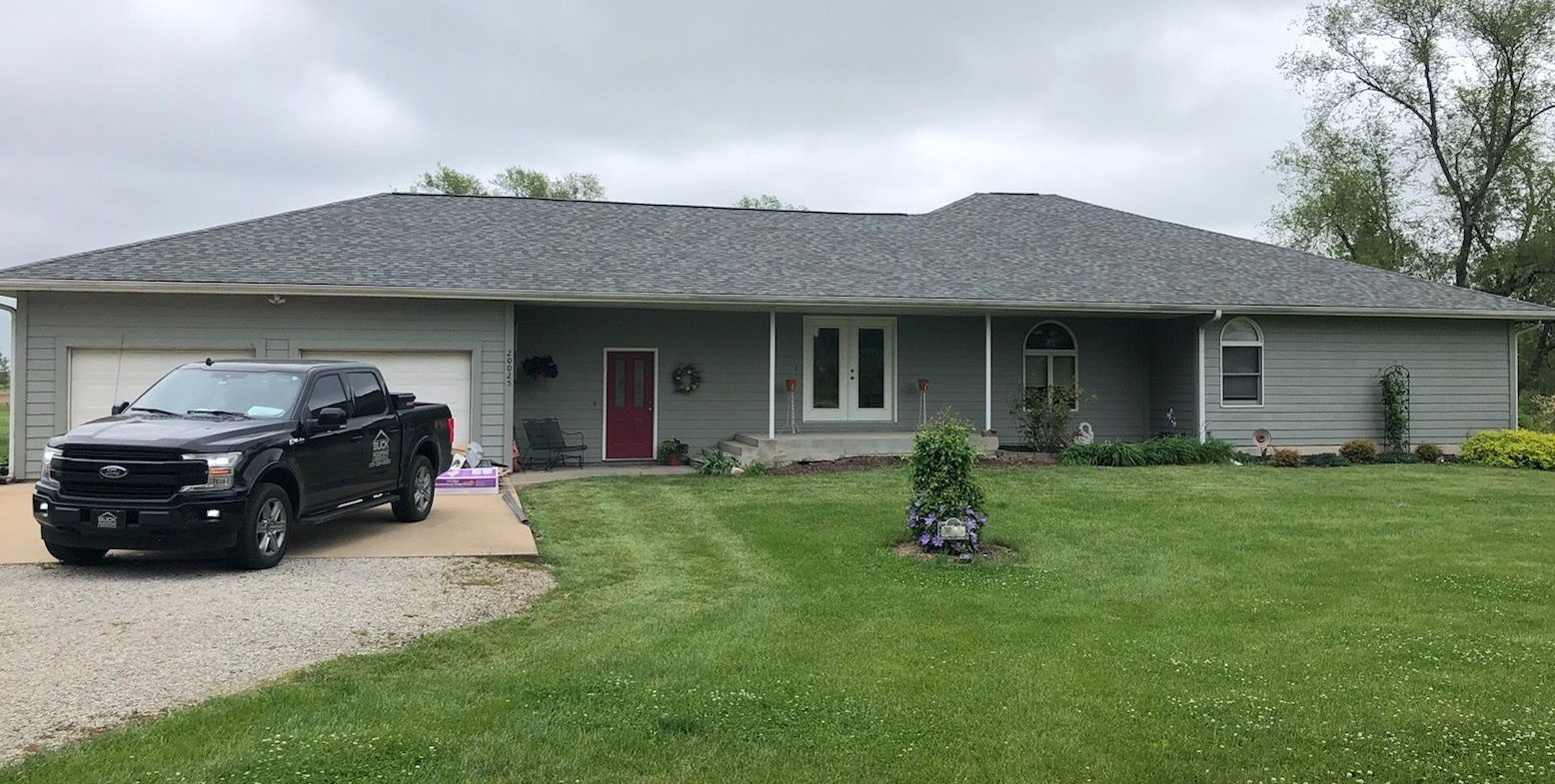 Buck Roofing - Residential Roofing - Kansas and Missouri - Certainteed Landmark - Georgetown Gray - Certainteed Shadow Ridge