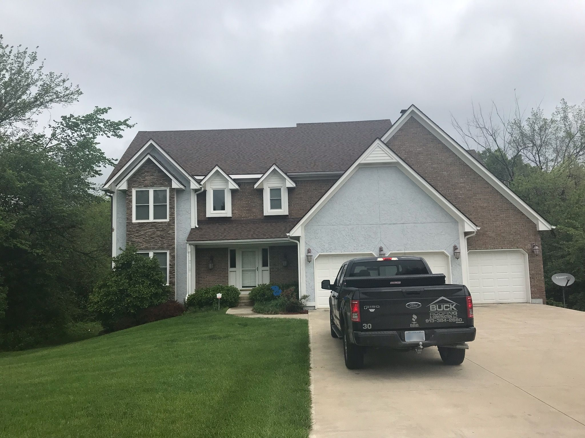 KC residential roofing company - Buck Roofing KCMO and KCKS - CertainTeed Landmark Pro - Shadow Ridge - Heather Blend