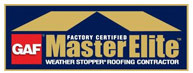 GAF Master Elite - Buck Roofing is certified a GAF Master Elite roofing installation contractor
