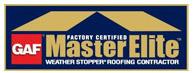 GAF Master Elite - Buck Roofing is certified a GAF Master Elite roofing installation contractor