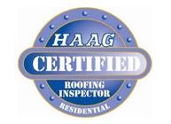 HAAG Certified residential badge - Buck Roofing is a certified residential roofing inspector
