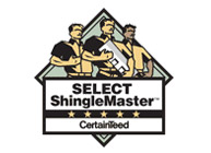 Certainteed Select ShingleMaster certified - Buck Roofing provides top quality residential roofing services