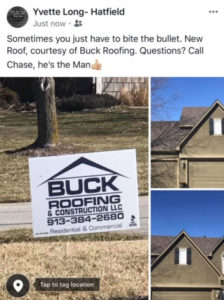 Buck roofing residential testimonial